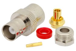 BNC Female Connector Clamp/Solder Attachment For PE-SR402AL, PE-SR402FL, RG402