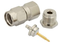 PE4214 - SMA Male Connector Clamp/Solder Attachment for RG178, RG196