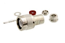 C Male Connector Clamp/Solder Attachment for RG55, RG58, RG141, RG142, RG223, RG303, RG400, PE-C195, PE-P195, LMR-195