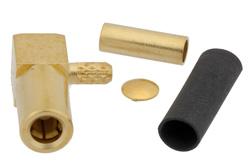 PE4335 - SSMB Plug Right Angle Connector Crimp/Solder Attachment For RG178, RG196
