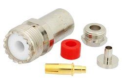 PE44056 - UHF Female Connector Clamp/Solder Attachment For RG58, RG55, RG141, RG142, RG223, RG400