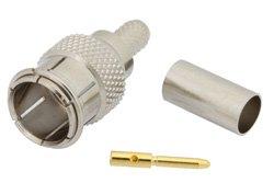 PE44088 - Mini UHF Male Push-On Connector Crimp/Solder Attachment for RG55, RG141, RG142, RG223, RG400