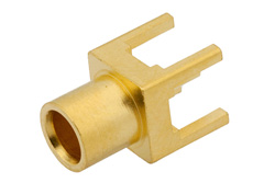 PE44375 - RP MCX Jack Connector Solder Attachment Thru Hole PCB, .200 inch x .067 inch Hole Spacing
