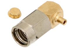 PE44420 - SSMA Male Right Angle Connector Solder Attachment For PE-034SR