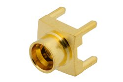 SMP Male Connector Solder Attachment Thru Hole PCB