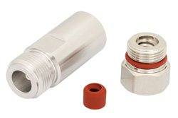N Female Low PIM Connector Clamp/Non-Solder Contact Attachment for 1/4 inch Superflexible, PE-1/4SFHC, IP67 Rated