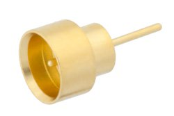SMP Male Limited Detent Hermetically Sealed Connector Solder Attachment Solder Mount Pin Terminal .135 inch Pin Length