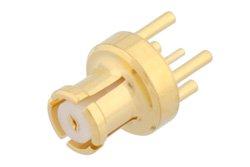 SMP Female Connector Solder Attachment Thru Hole PCB