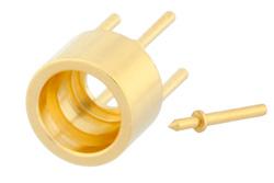 SMP Male Limited Detent Connector Solder Attachment Thru Hole PCB Non Captive Center Contact