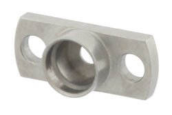 SMP Male Smooth Bore Shroud 2 Hole Flange Mount 0.282 Inch Hole Spacing