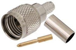 PE4521 - Mini UHF Male Connector Crimp/Solder Attachment For RG55, RG141, RG142, RG223, RG400