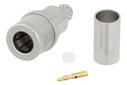 PE45224 - QMA Male Snap-On Connector Crimp/Solder Attachment for LMR-200, PE-C200