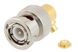 PE45239 - BNC Male Right Angle Connector Solder Attachment for PE-SR405AL, PE-SR405FL, RG405