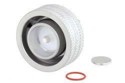 4.3-10 Male Right Angle Low PIM Push-On Connector Solder Attachment for RG402, PE-SR402AL, PE-SR402FL, PE-SR402FLJ, IP67 Rated