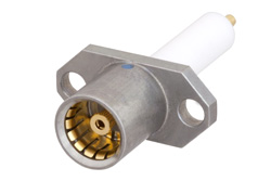 BMA Jack Slide-On Connector Solder Attachment 2 Hole Flange Mount Stub Terminal, With Cylindrical Contact
