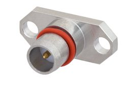 BMA Plug Slide-On Connector Solder Attachment 2 Hole Flange Mount Stub Terminal, .481 inch Hole Spacing, .010 inch Diameter
