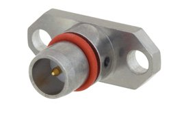 BMA Plug Slide-On Field Replaceable Connector 2 Hole Flange Mount .036 inch Pin, .481 inch Hole Spacing