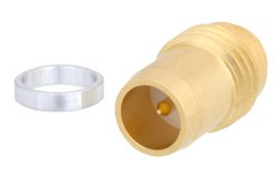 BMA Plug Slide-On Hermetically Sealed Thread-In Mount, Gold Plated
