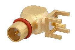 BMA Plug Right Angle Connector Solder Attachment Thru Hole PCB