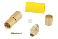 PE45369 - SSMC Plug Connector Crimp/Solder Attachment for RG188-DS, RG316-DS