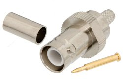 RP BNC Female Connector Crimp/Solder Attachment For RG58