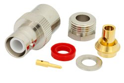 RP BNC Female Connector Clamp/Solder Attachment For PE-SR402AL, PE-SR402FL, RG402