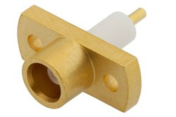 PE4894 - MCX Jack Connector Solder Attachment 2 Hole Flange Mount Pin Terminal, .328 inch Hole Spacing