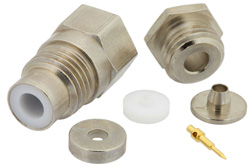 PE4929 - 75 Ohm SMC Jack Connector Clamp/Solder Attachment For RG179, RG187