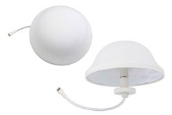 Dome Antenna Operates From 700 MHz to 2.5 GHz With a Nominal 3 dBi Gain SMA Male Input Connector on 6.5 in. of RG58-P