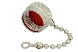 PE6016 - N Male Non-Shorting Dust Cap with 2.9 Inch Chain