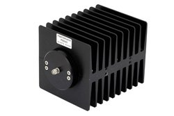 PE6043 - High Power 100 Watts RF Load Up To 2 GHz With SMA Female Input Square Body Black Anodized Aluminum Heatsink