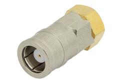 PE6053 - 75 Ohm 0.5 Watts Nickel Plated Brass SMB Plug RF Load Up To 1,000 MHz