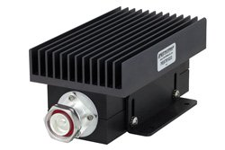 PE6TR1033 - High Power 100 Watt RF Load Up to 2.7 GHz with 7/16 DIN Male Black Anodized Aluminum