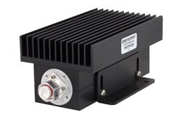 PE6TR1035 - High Power 100 Watt RF Load Up to 2.7 GHz with 4.3-10 Male Black Anodized Aluminum