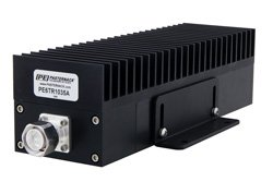 High Power 100 Watt RF Load Up to 2.7 GHz with 4.3-10 Male Black Anodized Aluminum