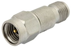 10 dB Fixed Attenuator, 2.92mm Male to 2.92mm Female Passivated Stainless Steel Body Rated to 2 Watts Up to 26.5 GHz