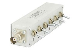 PE7036-1 - 42dB Step Attenuator, BNC Female To BNC Female Aluminum Body With 0.5dB Step Rated To 1 Watt Up To 1000 MHz