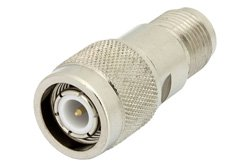3 dB Fixed Attenuator, TNC Male to TNC Female Brass Nickel Body Rated to 2 Watts Up to 12.4 GHz