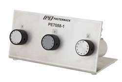 PE7058-1 - 81dB Step Attenuator, BNC Female To BNC Female Brass Nickel Body With 0.1dB Step Rated To 1 Watt Up To 1000 MHz