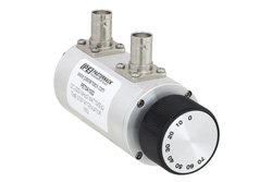 PE70A1022 - 0 to 70 dB Rotary Step Attenuator, BNC Female to BNC Female With 10 dB Step Rated to 2 Watts Up to 2.2 GHz