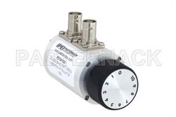 PE70A1024 - 0 to 10 dB Rotary Step Attenuator, BNC Female to BNC Female With 1 dB Step Rated to 2 Watts Up to 2.2 GHz