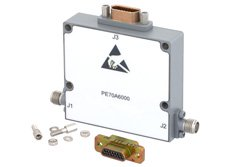 PE70A6000 - 60 dB With 10 Bit Programmable TTL Controlled Attenuator, SMA Female To SMA Female, 0.06 dB Steps From 500 MHz To 18 GHz