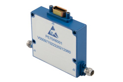 PE70A6001 - 30 dB With 10 Bit Programmable TTL Controlled Attenuator, 2.4mm Female To 2.4mm Female, 0.03 dB Steps From 18 GHz To 40 GHz
