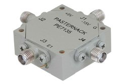 SMA Transfer PIN Diode Switch Operating From 2 GHz to 4 GHz Up To +30 dBm