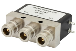 SPDT Electromechanical Relay Failsafe Switch DC to 4 GHz, N, 275 Watts, 28V Control