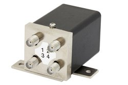 PE7150 - Transfer Electromechanical Relay Failsafe Switch DC to 18 GHz, SMA, 35 Watts, 28V Control