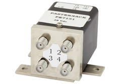 PE7151 - Transfer Electromechanical Relay Latching Switch DC to 18 GHz, SMA, 35 Watts, 175V Indicator, 28V Control with Indicators, Self Cut Off