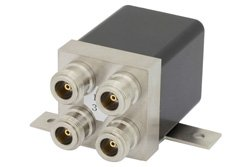 PE7153 - Transfer Electromechanical Relay Failsafe Switch DC to 4 GHz, N, 275 Watts, 28V Control
