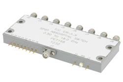 SMA SP8T PIN Diode Switch Operating From 500 MHz to 18 GHz Up To +20 dBm