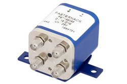PE71S6065 - Transfer Electromechanical Relay Failsafe Switch DC to 18 GHz, SMA, 100 Watts, 28V Control
